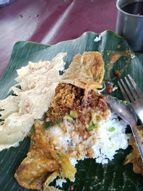 Nasi Pecel Madiun terenak dan murah di Pondok Cabe Raya