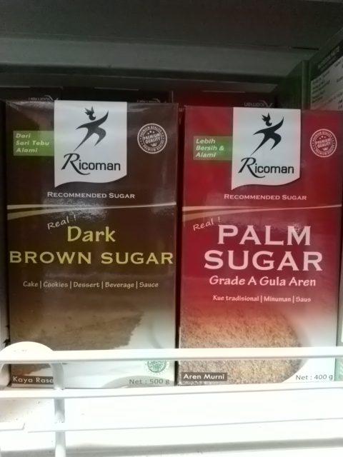 Gula Palem dan Brown sugar melihat perbedaan yang menarik